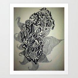 Ink Doodle Graphic Design Art Print