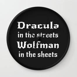 Dracula in the Streets Wall Clock