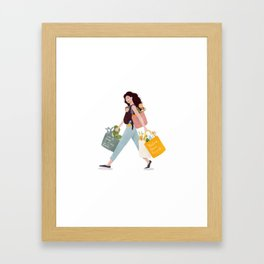 Weekend errands Framed Art Print