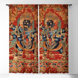 Vajrapani Bodhisattva Buddhist Deity Mahachakra Blackout Curtain