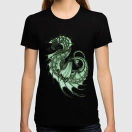 """Tsunami"" by Amber Marine ~ Sea Dragon (Jade Version) ~ Graphite Illustration, (Copyright 2005) T-shirt"