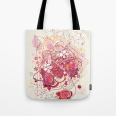 Floral universe orbit Tote Bag