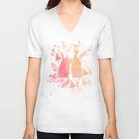 lungs V-neck T-shirts featuring lungs by divinerush