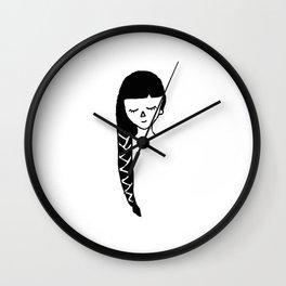 Pleated Girl Wall Clock