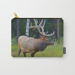Bull Elk shows off his rack in Jasper National Park Carry-All Pouch