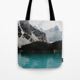 Lake Moraine, Banff National Park Tote Bag