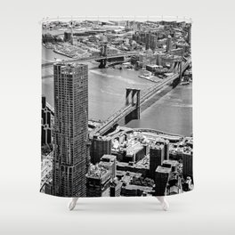 Brooklyn Bridge View - New York City Shower Curtain