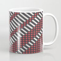 stripes Mugs featuring Stripes by MissCrocodile63
