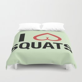 Squat Love Duvet Cover