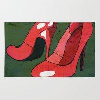 heels Area & Throw Rugs featuring HIGH HEELS by SAMHAIN