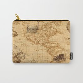 Vintage Map of America Carry-All Pouch