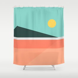 Geometric Landscape 15 Shower Curtain