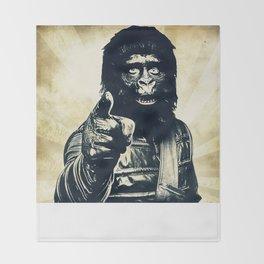 Vintage Ape * Go Ape Throw Blanket