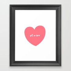 valentine, get in here Framed Art Print