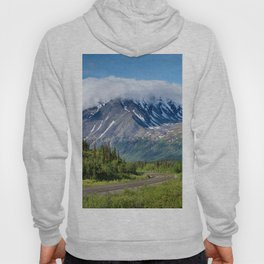 Photo Alaska USA George Parks Highway Nature mountain Roads Forests Scenery Mountains forest landscape photography Hoody
