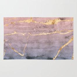 Watercolor Gradient Gold Foil Rug