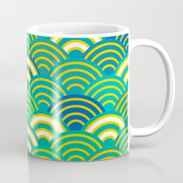 abstract scales simple Spring Nature background with japanese circle Coffee Mug