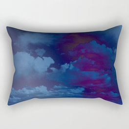 Clouds in a Stormy Blue Midnight Sky Rectangular Pillow