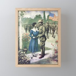 Colored Man Is No Slacker - 1918 WW1 Recruiting Framed Mini Art Print