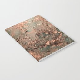 Marble Emerald Copper Blue Green Notebook