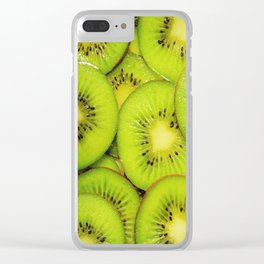 Green kiwis Clear iPhone Case