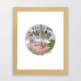 Personal Garden Framed Art Print