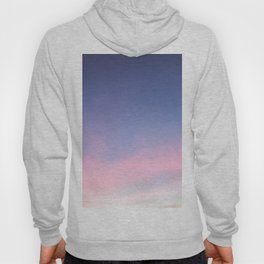 Blue evening sky with pink clouds. Photography Hoody