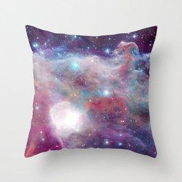 Eagle Nebula Horsehead Nebula Pastel Throw Pillow