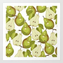 Pears Pattern Art Print
