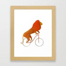 Reason FIVE for using bike: Framed Art Print
