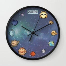 Planetary Blowfish Wall Clock