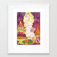 marie antoinette Framed Art Prints featuring Marie-Antoinette by Caroline Krzykowiak
