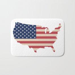 United States of America Map Bath Mat