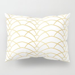 Art Deco Series - Gold & White Pillow Sham