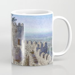 Portugal, Sintra, Castelo dos Mouros castle ramparts Coffee Mug