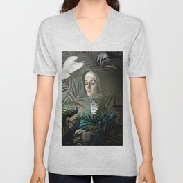 Eve in the Garden II Unisex V-Neck