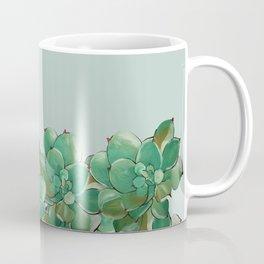 Fresh Succulents in Mint Coffee Mug