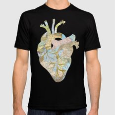 A Traveler's Heart (N.T) Mens Fitted Tee 2X-LARGE Black