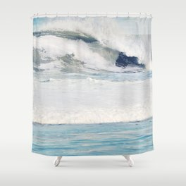Falling Ocean Waves Shower Curtain