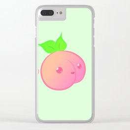 Just Fucking Peachy Clear iPhone Case