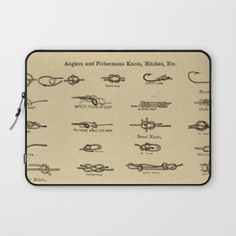 Vintage Diagram of Boating and Angler Knots (1913) Laptop Sleeve