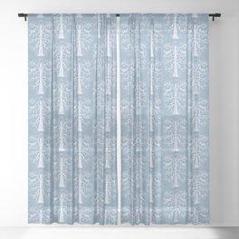 Winter Wolf Tree Sheer Curtain