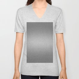 Gray to White Horizontal Bilinear Gradient Unisex V-Neck
