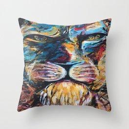Lion face original Throw Pillow