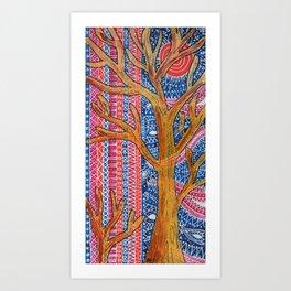 Geometree Art Print