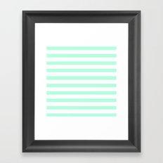 MINT STRIPES Framed Art Print