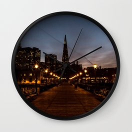 Transamerica Pyramid Pier Wall Clock