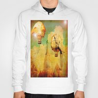 hot air balloons Hoodies featuring Hot-air balloons animal in Moscow by Joe Ganech