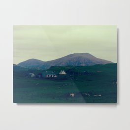 Hill & Houses Metal Print