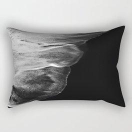 Black Sand White Wave Rectangular Pillow